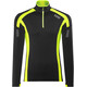GORE RUNNING WEAR Air Zip Shirt Long Men black/neon yellow